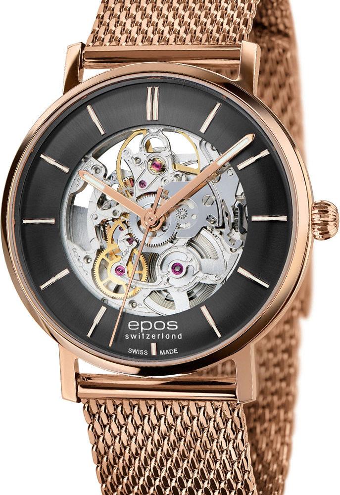 Швейцарские механические наручные часы Epos 3437.135.24.15.34