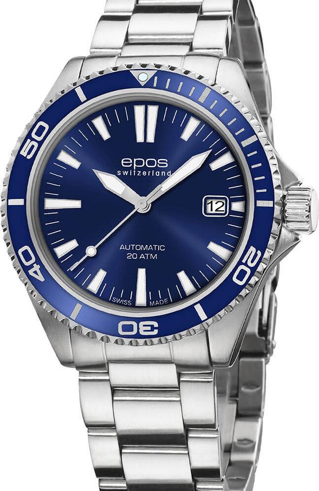 Швейцарские механические наручные часы Epos 3438.131.96.16.30
