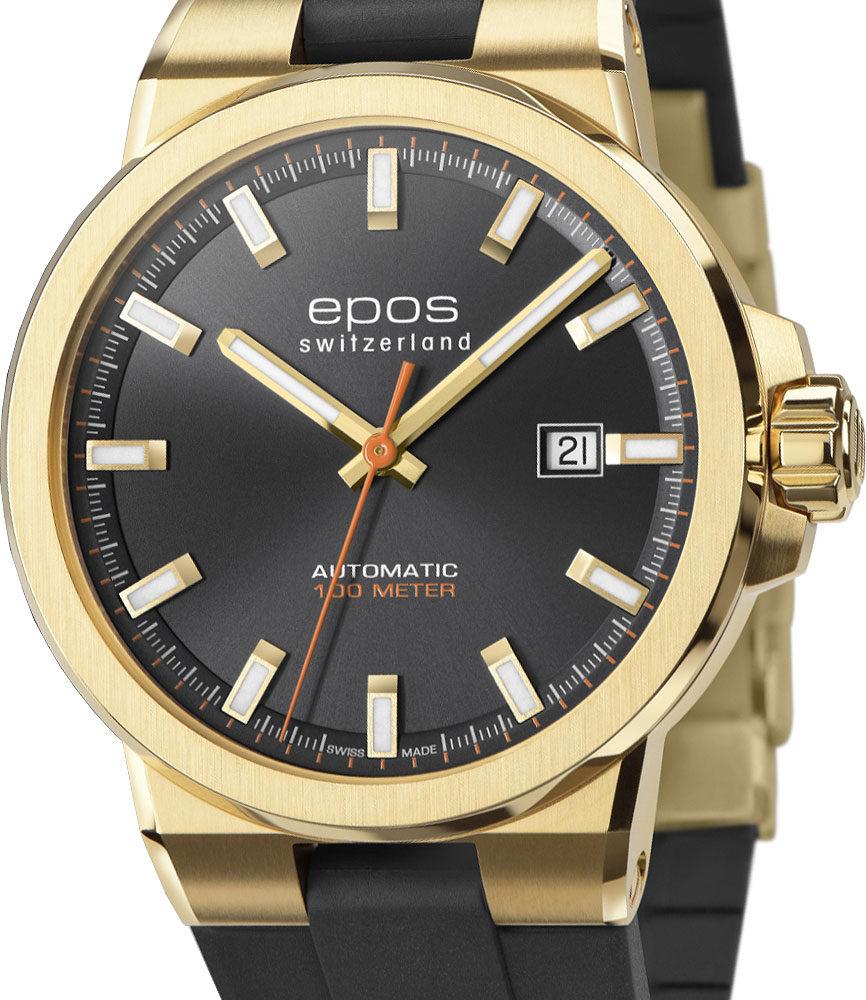 Швейцарские механические наручные часы Epos 3442.132.22.14.55