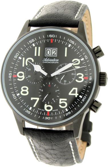 Швейцарские наручные часы Adriatica A1076.B224CH с хронографом