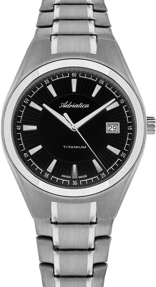 Швейцарские титановые наручные часы Adriatica A1137.4114Q