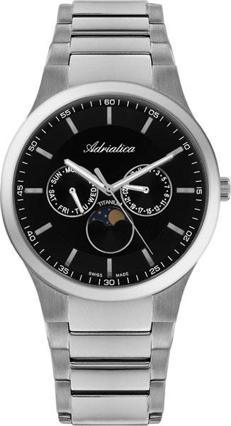Швейцарские титановые наручные часы Adriatica A1145.4114QF
