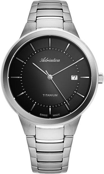 Швейцарские титановые наручные часы Adriatica A1282.4116Q