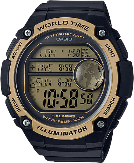 Японские наручные часы Casio Collection AE-3000W-9A с хронографом