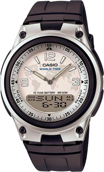 Японские наручные часы Casio Collection AW-80-7A2 с хронографом