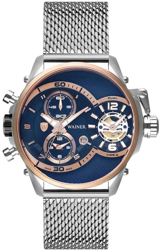 Швейцарские наручные часы Wainer WA.10882-B с хронографом