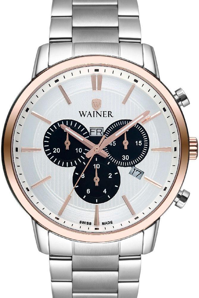 Швейцарские наручные часы Wainer WA.19622-B с хронографом